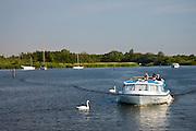 River boat on the Norfolk Broads, United Kingdom