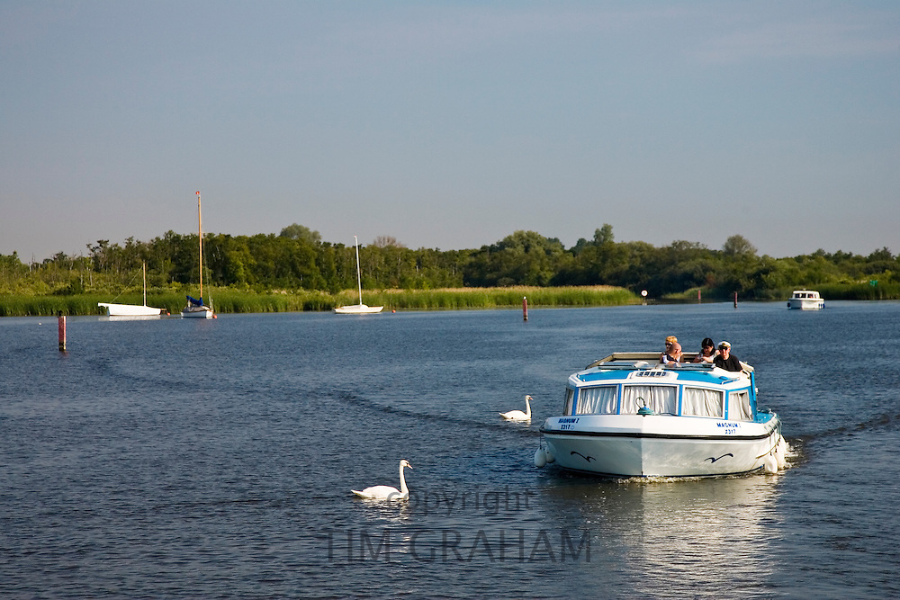 River boat on the Norfolk Broads, United Kingdom