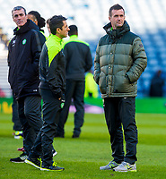 01/02/15 SCOTTISH LEAGUE CUP SEMI-FINAL<br /> CELTIC v RANGERS<br /> HAMPDEN - GLASGOW<br /> Celtic manager Ronny Deila (right) with assistant John Collins