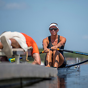 Hannah Osborne New Zealand Womens Single Scull<br /> <br /> Qualification heats at the World Championships, Sarasota, Florida, USA Monday 25 September 2017. Copyright photo © Steve McArthur / Rowing NZ