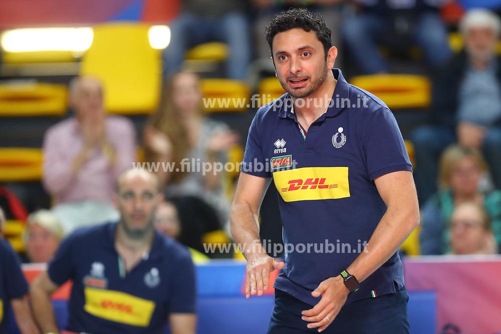DAVIDE MAZZANTI (ALLENATORE ITALIA)<br /> ITALIA - REPUBBLICA DOMINICANA<br /> PALLAVOLO VNL VOLLEY FEMMINILE 2019<br /> CONEGLIANO (TV) 28-05-2019<br /> FOTO FILIPPO RUBIN