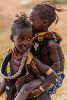 Hamer tribe girls, Omo Valley, Ethiopia.
