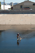 Alternative Biking, Los Angeles River, Los Angeles, California, USA