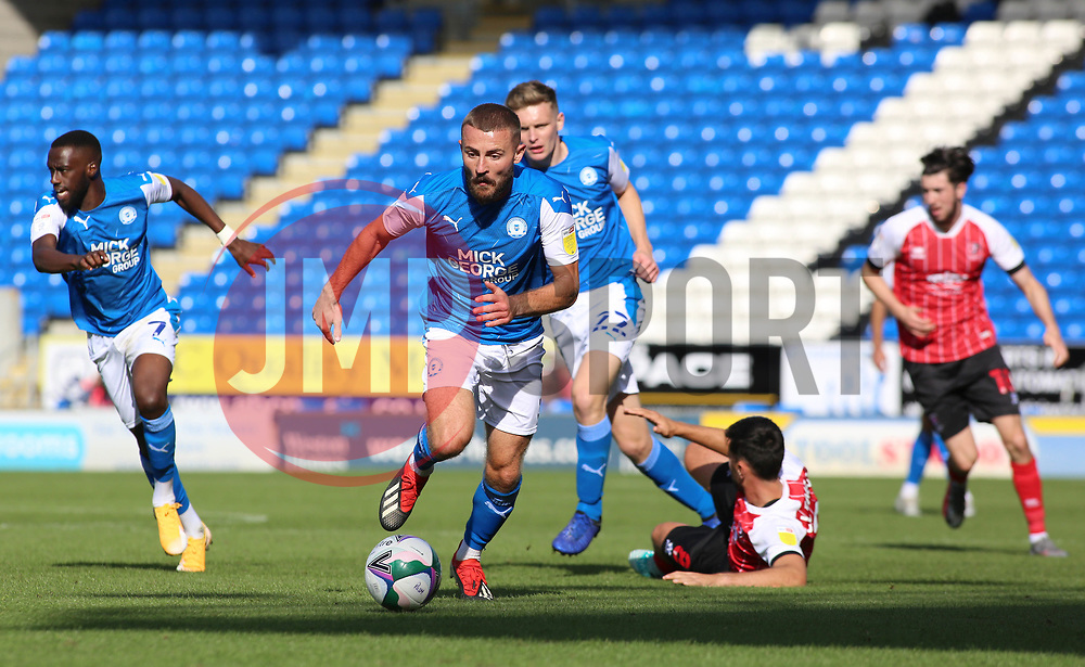 Dan Butler of Peterborough United in action against Cheltenham Town - Mandatory by-line: Joe Dent/JMP - 05/09/2020 - FOOTBALL - Weston Homes Stadium - Peterborough, England - Peterborough United v Cheltenham Town - Carabao Cup