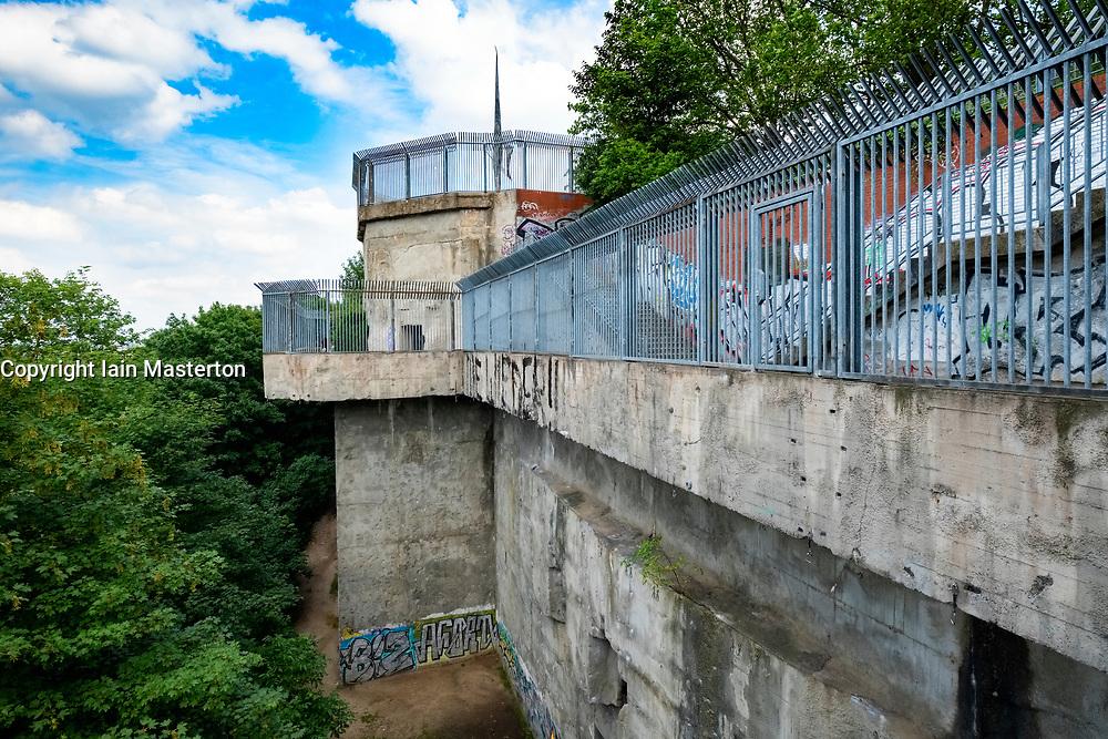 Former Second World War Flak tower at Gesundbrunnen Park in Berlin, Germany