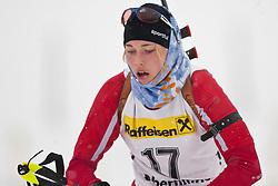 11.12.2010, Biathlonzentrum, Obertilliach, AUT, Biathlon Austriacup, Sprint Lady, im Bild Anna Aigner (AUT, #17). EXPA Pictures © 2010, PhotoCredit: EXPA/ J. Groder