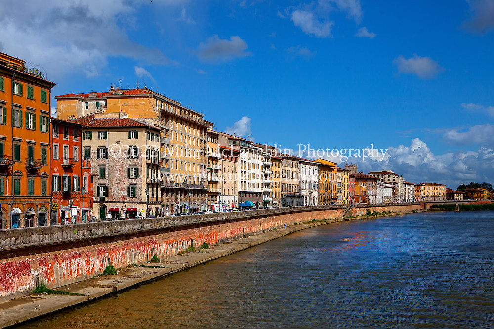 April 30, 2014<br /> The Fiume Arno river through Pisa. Pisa, Italy.<br /> ©2014 Mike McLaughlin<br /> www.mikemclaughlin.com<br /> All Rights Reserved