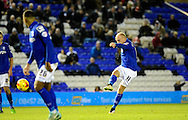 David Cotterill shoots during the Sky Bet Championship match between Birmingham City and Reading at St Andrews, Birmingham, England on 13 December 2014.