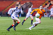 Lizzie Arnot (#15) of Rangers Women FC heads towards goal during the Scottish Building Society Womens Premier League match between Glasgow City Women and Rangers Women at Broadwood Stadium, Glasgow, Scotland on 13 December 2020.