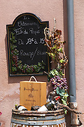 wine shop chalk board chateauneuf du pape rhone france
