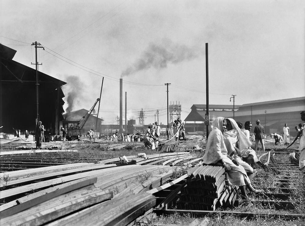 Women Carrying Steel Angles, Tata Iron & Steel Works, Jamshedpur, India, 1929