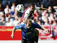 Fotball<br /> Bundesliga Tyskland 2004/05<br /> Kaiserslautern v Hamburger SV<br /> 18. september 2004<br /> Foto: Digitalsport<br /> NORWAY ONLY<br /> Sergej Barbarez, Ingo Hertzsch Kaiserslautern
