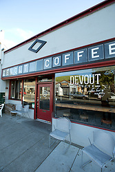 The facade of Devout Coffee, photographed Tuesday, April 5, 2016, in Fremont, Calif. (Photo by D. Ross Cameron)