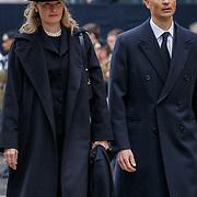 LUX/Luxemburg/20190504 -  Funeral<br /> of HRH Grand Duke Jean, Uitvaart Groothertog Jean, prins Alois (R) en partner prinses Sophie van Liechtenstein