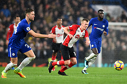 December 16, 2017 - London, England, United Kingdom - Southampton's James Ward-Prowse chases down the ball in the rain during the Premier League match between Chelsea and Southampton at Stamford Bridge, London, England on 16 Dec 2016. (Credit Image: © Kieran Galvin/NurPhoto via ZUMA Press)