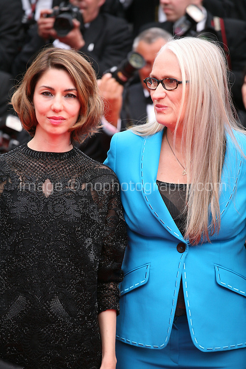 Sofia Coppola and Jane Campion at the the Grace of Monaco gala screening and opening ceremony red carpet at the 67th Cannes Film Festival France. Wednesday 14th May 2014 in Cannes Film Festival, France.