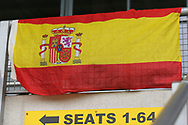 Spain fans flag during the UEFA European Under 17 Championship 2018 match between Netherlands and Spain at the Pirelli Stadium, Burton upon Trent, England on 8 May 2018. Picture by Mick Haynes.