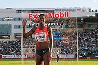 Friidrett<br /> 11. Juni 2015<br /> Exxon Mobil Bislett Games<br /> Jasmine Stowers , Vinner av 100 m. hekk / hurdles<br /> Foto: Astrid M. Nordhaug