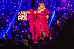 """Mariah Carey releases a photo on Twitter with the following caption: """"""""The #CautionWorldTour continues tonight at the @HardRockHCAC 🦋 only a few more shows in the North American leg! #cautionworldtour #justiceforglitter <br /> 📸 Vlad Grach"""""""". Photo Credit: Twitter *** No USA Distribution *** For Editorial Use Only *** Not to be Published in Books or Photo Books ***  Please note: Fees charged by the agency are for the agency's services only, and do not, nor are they intended to, convey to the user any ownership of Copyright or License in the material. The agency does not claim any ownership including but not limited to Copyright or License in the attached material. By publishing this material you expressly agree to indemnify and to hold the agency and its directors, shareholders and employees harmless from any loss, claims, damages, demands, expenses (including legal fees), or any causes of action or allegation against the agency arising out of or connected in any way with publication of the material."""