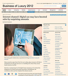 Financial Times; Woman shopping online with iPad