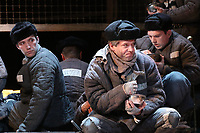 Life and Fate - Dress Rehearsal, Theatre Royal Haymarket, London UK, 07 May 2018, Photo by Richard Goldschmidt, It's early 1943. Hitler's Germany and Stalin's Russia are in a bitter struggle for their very survival. Life and Fate is a sweeping panorama of Soviet Society, an epic tale of a country told through the fate of a single Jewish family, the Shtrum's.
