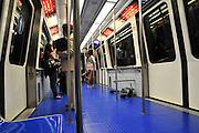 Rome, Italy, Interior of a Metro car