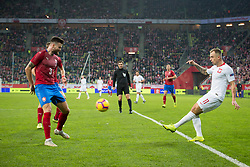 November 15, 2018 - Gdansk, Pomorze, Poland - Ondrej Celustka (3) Kamil Grosicki (11) during the international friendly soccer match between Poland and Czech Republic at Energa Stadium in Gdansk, Poland on 15 November 2018  (Credit Image: © Mateusz Wlodarczyk/NurPhoto via ZUMA Press)