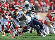 KANSAS CITY, MO - NOVEMBER 24:  Safety Kendrick Lewis #23 of the Kansas City Chiefs tackles running back Ryan Mathews #24 of the San Diego Chargers during the first half on November 24, 2013 at Arrowhead Stadium in Kansas City, Missouri.  (Photo by Peter Aiken/Getty Images) *** Local Caption *** Kendrick Lewis;Ryan Mathews