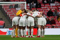 England prior to kick off<br /> <br /> Photographer Stephanie Meek/CameraSport<br /> <br /> FIFA Women's World Cup Qualifying Group D - England Women v Northern Ireland Women - Saturday 23rd October 2021 - Wembley Stadium - London<br /> <br /> World Copyright © 2021 CameraSport. All rights reserved. 43 Linden Ave. Countesthorpe. Leicester. England. LE8 5PG - Tel: +44 (0) 116 277 4147 - admin@camerasport.com - www.camerasport.com