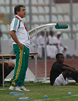 Photo: Steve Bond/Richard Lane Photography.<br /> Senegal v South Africa. Africa Cup of Nations. 31/01/2008. South Africa coach Carlos Alberto Parreira on the touchline