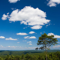 The view from Wilson Hill in Deering, New Hampshire.  Society for the Protection of New Hampshire Forests' High Five peserve.