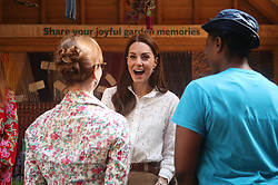 The Duchess of Cambridge during her visit to the RHS Chelsea Flower Show at the Royal Hospital Chelsea, London.