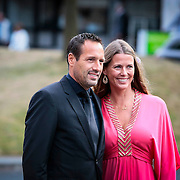 NLD/Hilversum/20130902 - Gala Voetballer van het Jaar 2013, John van 't Schip en partner Danielle Oonk