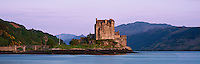 Eilean Donan castle and waters of Loch Duich in the west coast of Scotland