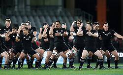 New Zealand perform the Haka before the June International Test match at Eden's Park, Auckland.