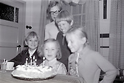 children celebration the 5th birthday late 1960s