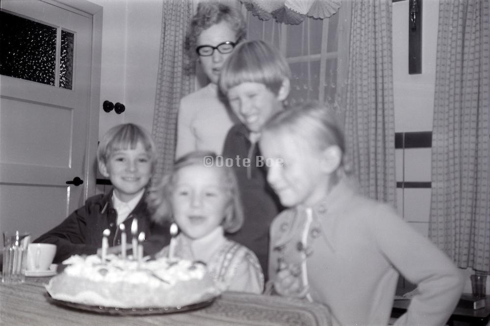 children celebration the 5th birthday late 1960s