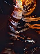 Inside the Upper Antelope slot canyon near Page, Arizona.