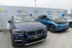June 7, 2017 - Shanghai, Shanghai, China - Shanghai, CHINA-June 7 2017: (EDITORIAL USE ONLY. CHINA OUT) The Bayerische Motoren Werke AG (BMW) releases electronic cars at the International Consumer Electronics Show (CES) Asia 2017 in Shanghai on June 7th, 2017. (Credit Image: © SIPA Asia via ZUMA Wire)