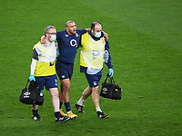 Rugby Union - 2020 Autumn Nations Cup - England vs Georgia - Twickenham<br /> <br /> England's Jonathan Joseph leaves the pitch injured in the first half.<br /> <br /> COLORSPORT/ASHLEY WESTERN