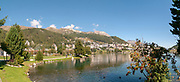 St. Moritz, Switzerland with Lake St. Moritz in the foreground