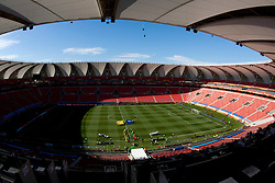 Stadium prior to the 2010 FIFA World Cup South Africa Group C Third Round match between Slovenia and England on June 23, 2010 at Nelson Mandela Bay Stadium, Port Elizabeth, South Africa.  (Photo by Vid Ponikvar / Sportida)