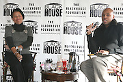 Debra Lee and Brickson Diamond at The Black House during the 2008 Sundance Film Festival. ..HISTORY..The Blackhouse Foundation was created in 2007 by a group of dedicated individuals interested in black cinema - preserving and furthering its legacy. Black House works to provide a platform for African American filmmakers to use their voice to tell stories by and about African Americans in the world of independent and feature films...Black filmmakers made history in 2007, the year The Blackhouse Foundation launched the Blackhouse® venue at the 2007 Sundance Film Festival.  Blackhouse® played host to over 150 daily visitors with more than 1,200 people visiting the venue throughout the festival.  Blackhouse® was open to the public throughout the day, hosted workshops, a legendary nightly cocktail hour, a marquee party for Our Stories Films, LLC and launched a landmark fellows program for young, aspiring filmmakers.  ..MISSION..The mission of the Blackhouse Foundation is to expand opportunities for Black filmmakers by providing a physical venue for our constituents at the world's most prominent film festivals and creating a nucleus for continuing support, community, education and knowledge.  .
