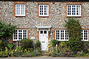 Traditional brick and flint Norfolk home near Burnham Market, Holkham, United Kingdom