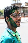 Hindu Holi festival participant in Jaipur, India.