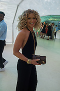 KELLY HOPPEN, Serpentine's Summer party co-hosted with Christopher Kane. 15th Serpentine Pavilion designed by Spanish architects Selgascano. Kensington Gardens. London. 2 July 2015.