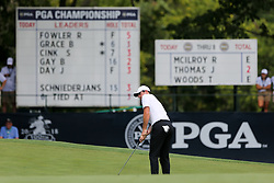 August 9, 2018 - St. Louis, Missouri, United States - Rory McIlroy putts during the first round of the 100th PGA Championship at Bellerive Country Club. (Credit Image: © Debby Wong via ZUMA Wire)