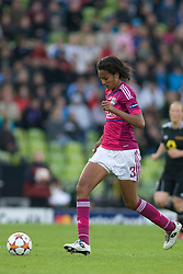 17.05.2012, Olympiastadion, Muenchen, GER, UEFA CL, Finale Damen, Olympic Lyon (FRA) vs FFC Frankurt (GER), im Bild Lyon's french defender Wendie Renard in action during the UEFA Champions League final for women played at the Olympia Stadion and contested by Olympic Lyon from France and FFC Frankurt from Germany. Lyon won the match 2-0 , Germany on 2012/05/17 . EXPA Pictures © 2012, PhotoCredit: EXPA/ Mitchel Gunn