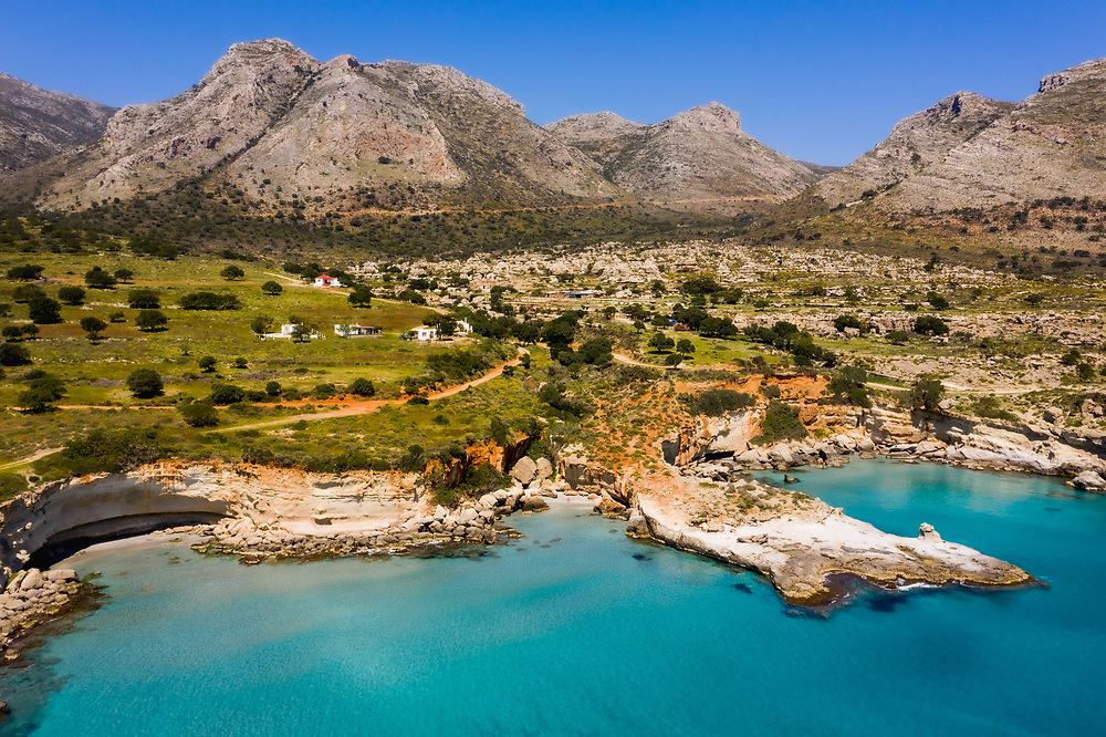 The petrified palm forest of the coastal zone of Agios Nikolaos, Greece