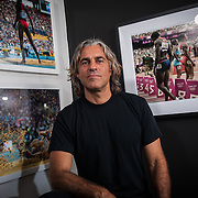 Promotional photo shoot with local sports photographer, Jeff Cohen, at Studio Five08 in Santa Monica, California on 9/8/14.   © 2014 Michael Der, all rights reserved